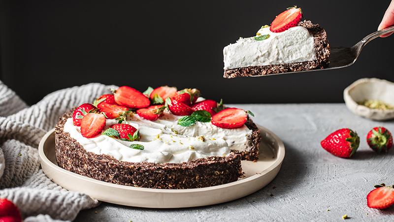 Konditoren-Torte mit Erdbeeren